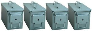 Buffalo Tools 0.25 cu. ft. Army Style Metal Ammo Storage Box (4-Pack)
