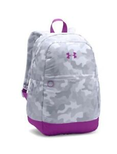 Girls Backpack Under Armour Water-Resistant School Supplies White Purple
