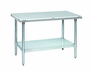 Tarrison PTS3048 Heavy Duty 18 Gauge Stainless Steel Poly Top Trimming Table