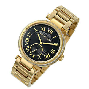 100% New Michael Kors Women's Gold-Tone Stainless Steel Bracelet Watch MK5989