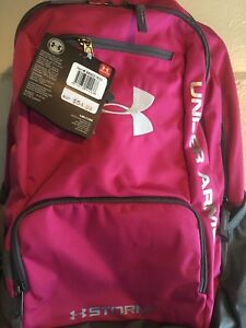 Under Armour Backpack Storm 1 Back to school books book bag classroom PINK