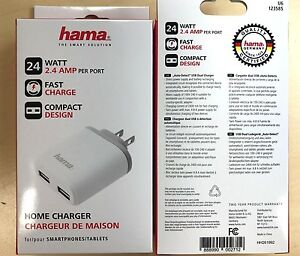 Wholesale Lot of 90 HAMA 4.8 AMP DUAL USB Home Chargers for Phone