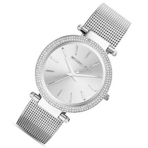 100% New Michael Kors Silver Darci Stainless Steel Bracelet Women's Watch MK3367