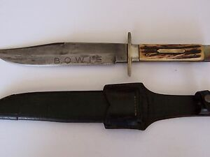 vintage Solingen F. A. Bower Imp. Co. Bowie hunting fighting knife