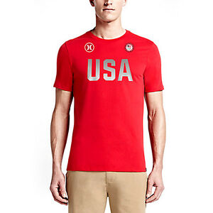 HURLEY Dri-Fit One and Only US Olympic Team USA T-Shirt tee shirt dri fit