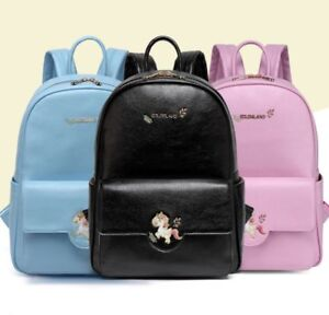Waterproof 3pcs PU Leather Baby Diaper Nappy Backpack Mummy Bag Handbag Travel