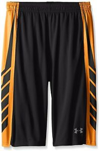 Under Armour Boys' Select Basketball Shorts BlackTraffic Cone Orange Youth