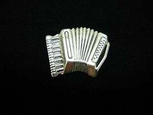 Vintage Beau Sterling Silver Figural Accordion Musical Instrument
