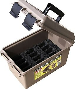 Ammo Storage Box Tactical Case Can Safety Shooting Hunting Firearm 2235.56 Mag