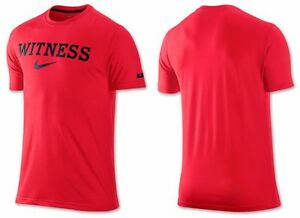 Nike - LeBron James Shirt - Red WITNESS Crown Dri-Fit - Mens Small