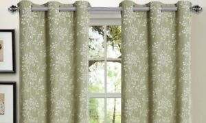 Window Elements Linen BleNd Covers Panels With Grommets 76 X 84 Sage Curtains