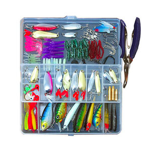 Fishing Lures Kit Tackle Set Lure Bass Baits Trout Box Crankbait Bait Spoon Kit