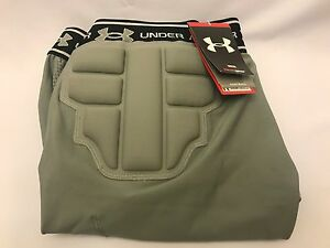 Under Armour Men's MPZ Padded Football Compression Shorts Grey Large