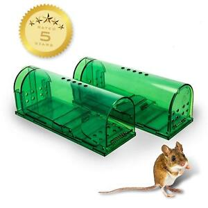 Humane Mouse Traps 2 Pack Live Catch and Release #1 Best Selling Mousetrap