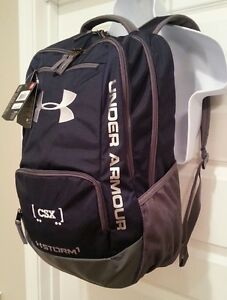 UNDER ARMOUR CSX Storm 1 Heat Gear Water Resistant Unisex Backpack Navy Gray