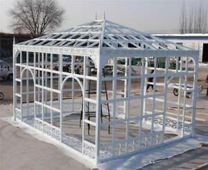INCREDIBLE CUSTOM BUILT INDOOR OR OUTDOOR IRON GREENHOUSE - CONSERVATORY - NY1