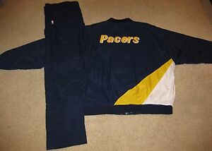 Indiana Pacers NBA 1994 Team Issued Warm Up Suit Jacket Jersey Shirt mens XXL