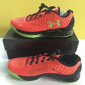 Under Armour Stephen Curry One Low Charged Basketball Shoes Bolt Orange 9 USA
