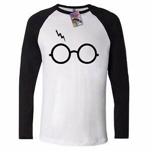 LIGHTNING GLASS T shirt LONG SLEEVE potter NOT LEVIOSA UNISEX SCAR TEE HARRY top GBP 9.99