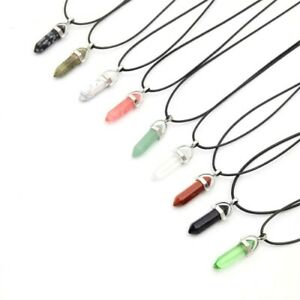 Crystal Pendant Necklace Up to 30% off Healing Crystal Pendant Point FAST Pamp;P GBP 3.49