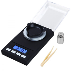 Digital Milligram Scale Reloading Jewelry Weight Tweezers and Weighing Pans