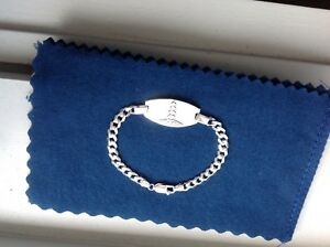 925 STERLING SILVER MEN'S WOMEN'S MEDICAL ALERT ID BRACELET 7