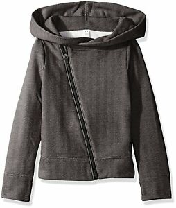 Under Armour Girls Sweaterknit Full Zip Hoodie BlackStealth Gray Youth Large