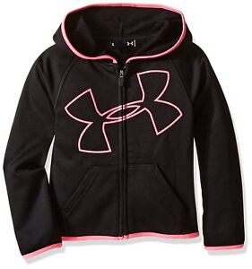 Under Armour Little Girls UA Logo Zip Hoodie Black 4