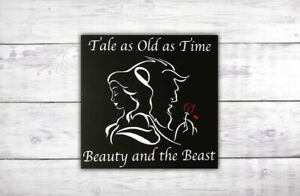 Tale as Old as Time Beauty and the Beast Sign | Disney Wall Art | Enchanted Rose