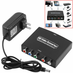 New HDMI to 5RCA RGB Component YPbPr Video +RL Audio Adapter Converter HD TV