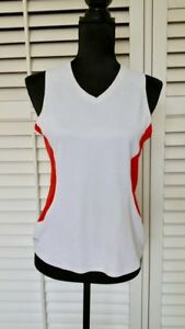 Nike Fit Dry sz M red white women tank top shirt sleeveless sport gym yoga