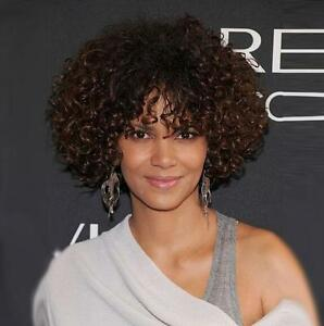 Chic Cut Fluffy Curly Hairstyle Color#433 African American Synthetic Hair Wigs