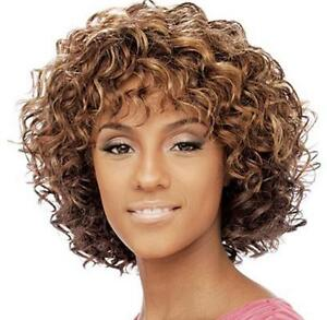 Chic Cut Fluffy Curly Hairstyle Color#430 African American Synthetic Hair Wigs