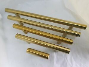 10pcs brushed brass cabinet cupboard drawer door handle pulls knob Goldenwarm