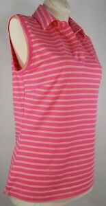 NIKE GOLF Fit Dry Coral Shirt Sleeveless Womens Tank Top Size S SMALL (4-6)