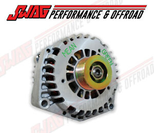 Mean Green 200 Amp High Output Alternator For '01-07 Duramax 6.6L LB7 LLY LBZ