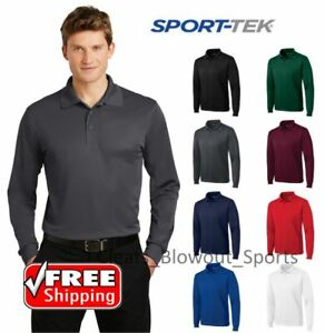 Sport Tek Long Sleeve Polo Golf Performance Sport Wicking Dry Fit Shirt ST657 $24.81