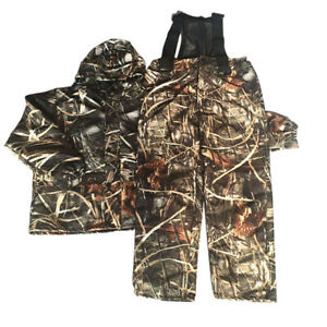 Men#x27;s Jacket Pants Ghillie Suit Reed Camo Hooded Camouflage Hunting Clothes