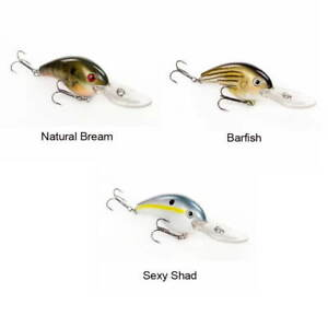 Strike King Pro-Model 10XD Crankbait- 3 Lures Sexy Shad Barfish Natural Bream