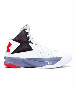 Under Armour 1264224-102 Mens UA Rocket Basketball ShoesWhite- Choose SZColor.