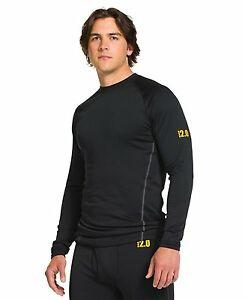 Under Armour 1239724 Mens UA Base 2.0 CrewBlack- Choose SZColor.