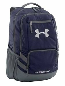 Under Armour 1272782 UA Team Hustle Backpack Midnight Navy  Graphite Silver