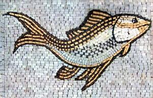 Aquatic Swimming Fish Mosaic Mosaic Designs Marine Life&Nautical Mosaic Tile
