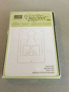 Stampin' Up! Retired Big Shot DRESS FORM POP N CUTS DIE Brand New