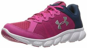 Under Armour 1266320-654-3.5 Girls Grade School Micro G Assert 6 Running Shoes