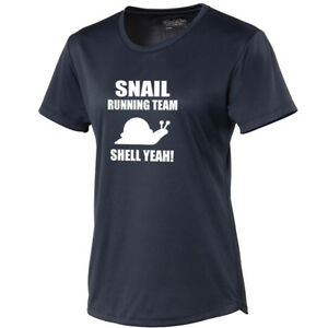 Snail Running Team Womans Cool Tee T-Shirt Wicking Material Funny Sport TS347
