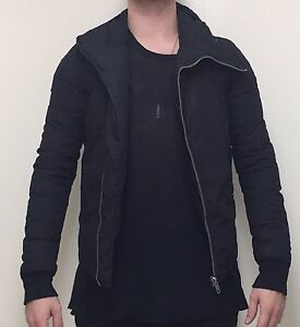 RICK OWENS Bullet Slim-fit Hooded Jacket Size XS