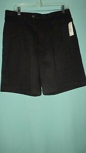 NEW WTAGS MENS CALLAWAY GOLF SHORTS BLACKPLEATED FRONTWAIST 34RISE 12