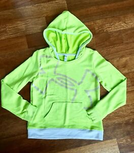 NEW Under Armour Girls Youth Large Long Sleeve Hoody Sweatshirt Green YLG
