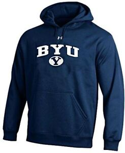 BYU Cougars Navy Under Armour Synthetic Performance ColdGear Hooded Sweatshirt $69.95